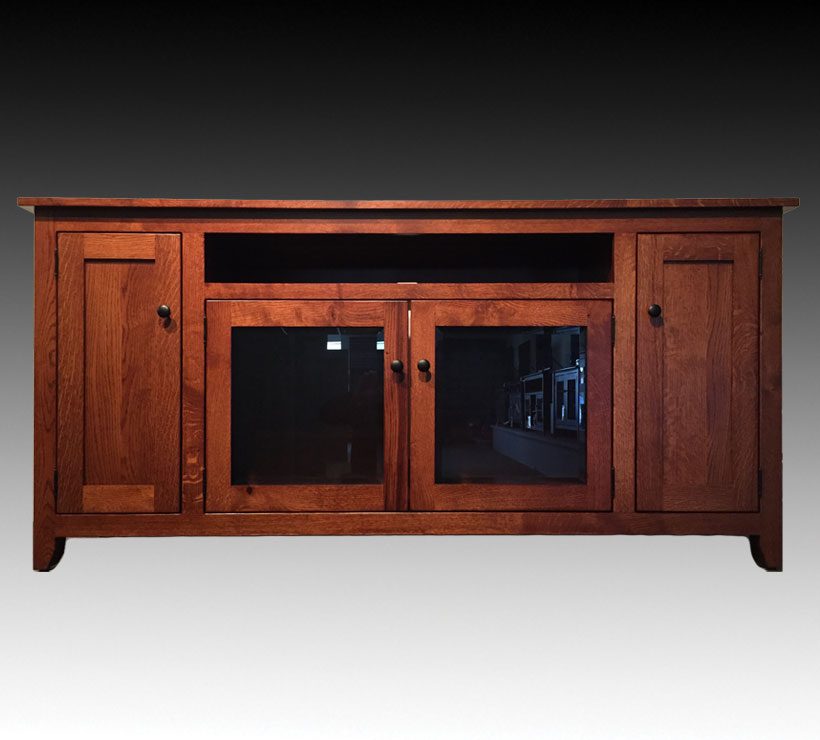 Mentor Furniture Ashery Oak 70 Inch Amish Home Theater Tv Stand