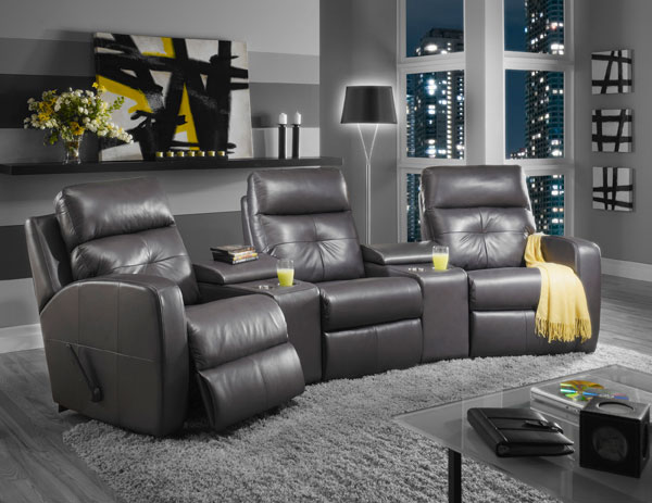 Mentor furniture home theater seating reclining for Fauteuil cinema maison